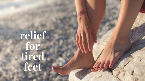 Relief for tired feet - Stress can show up in any part of the body especially in the form of tired feet. Our feet are in need of some major pampering especially dur[..]