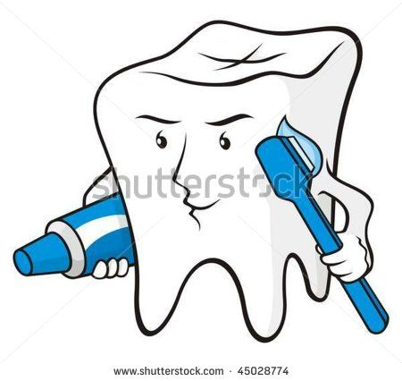 Teeth Toothbrush Cartoon   Tooth Cartoon Smiling With Toothbrush And Toothpaste Stock Vector ...