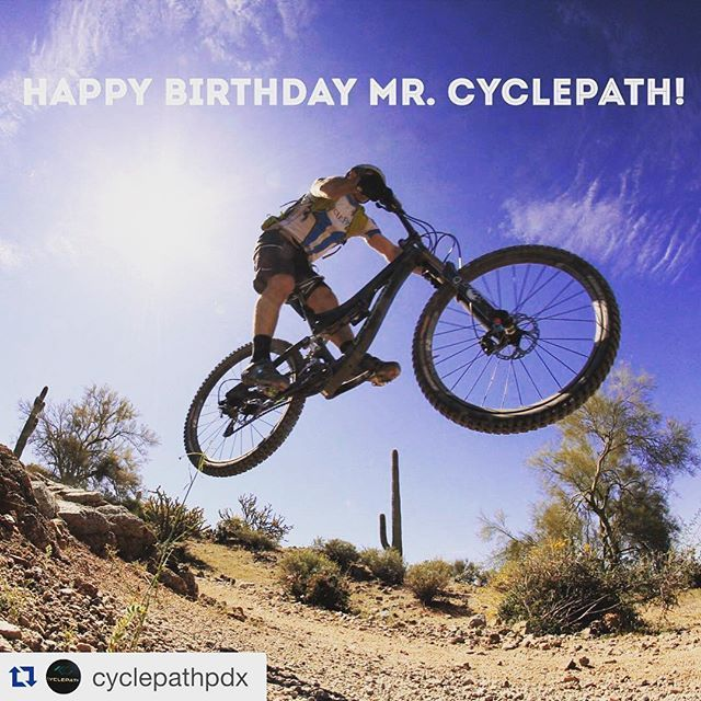 If it is your birthday- I hope you get out for a good ride too! Happy February Birthdays! #Repost @cyclepathpdx with @repostapp. ・・・ Join us in wishing our fearless leader, @billybonesmoots, a very happy 29th Birthday!! If you don't know Bill - he's that guy on the trail with the biggest grin. #felizcumpleaños #birthdayboy // photo courtesy of @pivot_cyclesusa
