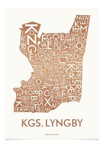 KGS. LYNGBY - KOBBER - 50x70 CM