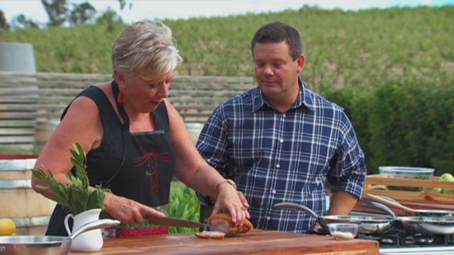 In season 5, the contestants are treated with a visit from the food queen of Australia, Maggie Beer.