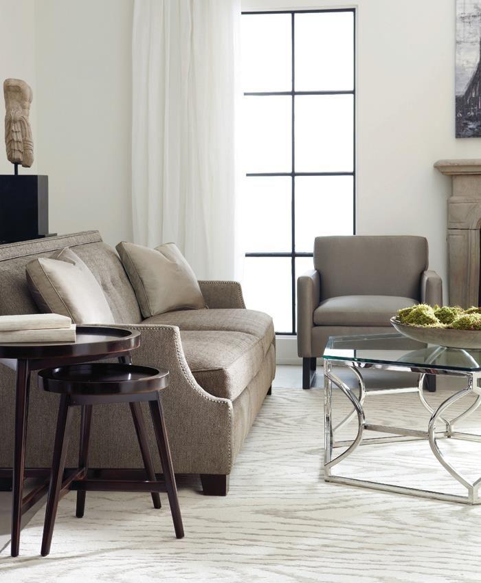Franco Sofa | Jaxon Chair | Argent Cocktail Table | Putnam Round Table #design #GlenandJamie #furniture