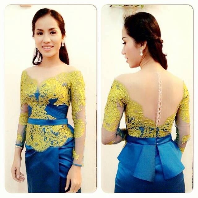 Cambodian, khmer traditional dress.