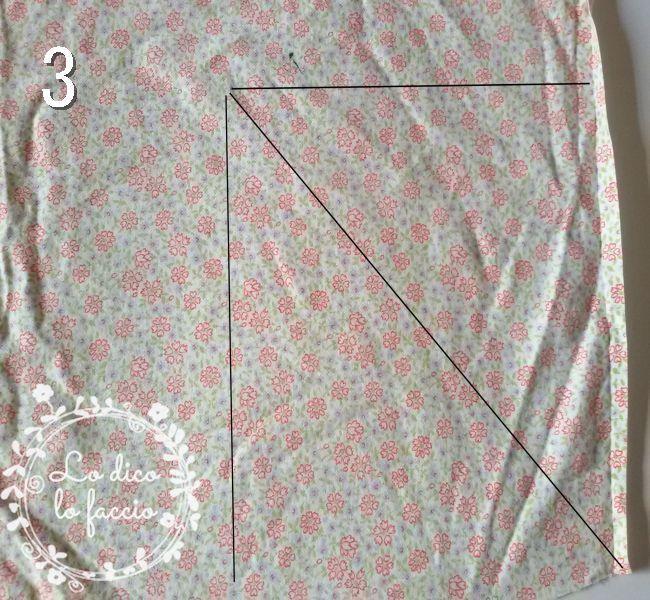 come cucire angolo al lenzuolo