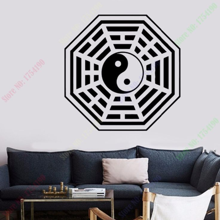 Free Shipping  Wall Decal Buddha Yin Yang Oriental Relaxation Meditation OM Decor Home Decoration Wall Sticker size 56x56cm