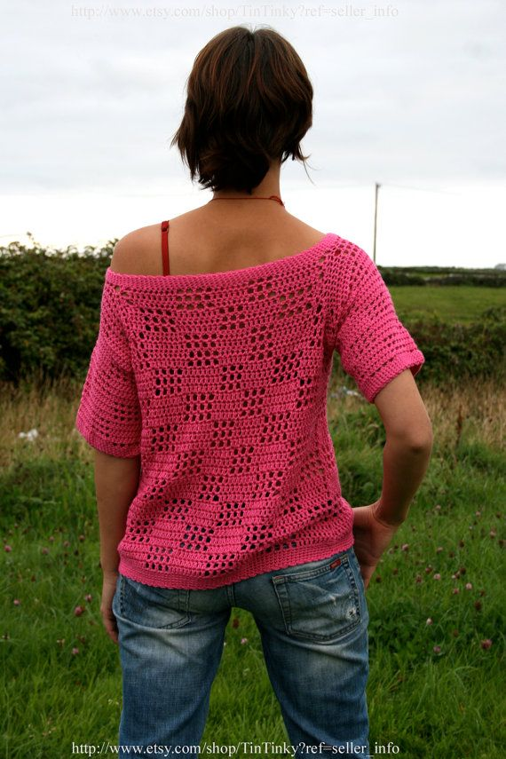 Reversible Handmade Summer Crochet Blouse by JustJuiced