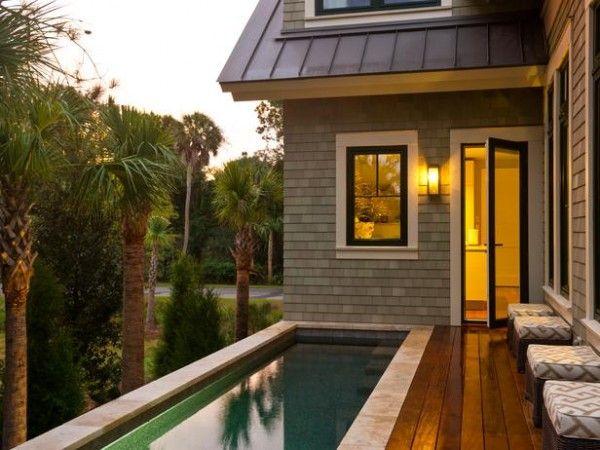 lap pool in deck - how nice