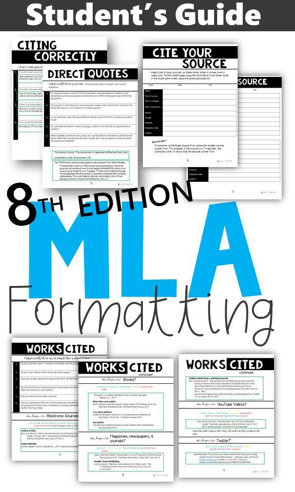 Mla Formatting Guide Examples And Checklists Academic Essay Writing Student Guide Writing Skills