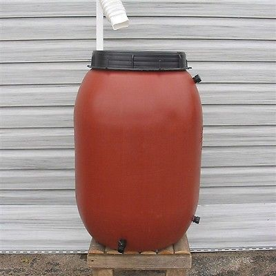 Water running off your house is as good as money down the drain. Start saving your hard-earned cash by placing an 50-Gallon Terra-Cotta Red HDPE Food Grade Rain Barrel under your downspout. Crafted fr