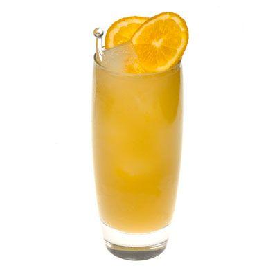 Beachcomber (1 1/4 oz  Vodka  1/4 oz  Coconut Rum  1/2 oz pineapple juice  1/4 oz orange juice  1 slices orange)