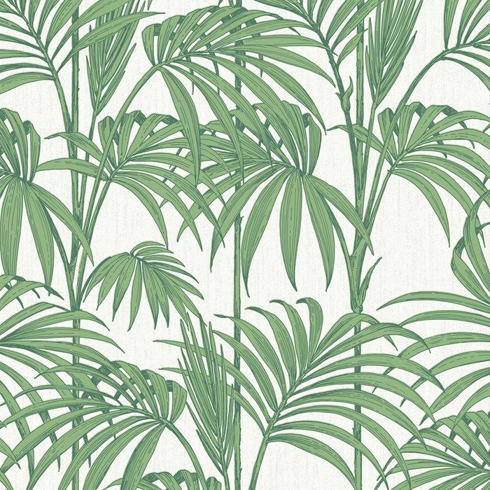 This ultra hip palm leaf wallpaper design hits the tropical fashion trend of the moment, this gorgeous design is very versatile allowing you to create real drama with the darker colourways or a more subtle effect with the neutrals. With a glittering background and metallic embellishments to the leaf it's got to be the hottest look of the season. This statement wallpaper design in palm green, white and metallic looks fabulous on all four walls, or if you prefer you can use as a feature or…