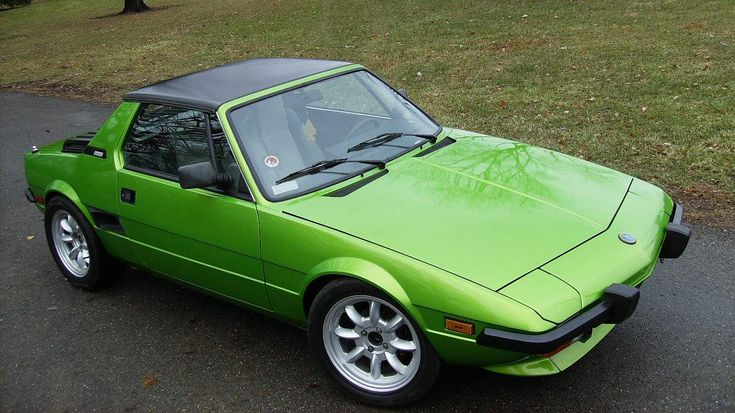 Fiat x19. This was the first car I owned in LA back in 1984. A white one. I had to push start it every morning.