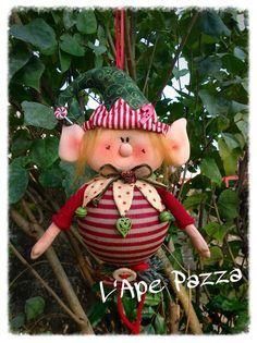 Cartamodelli Babbi Natale ed Elfi 2014 : Cartamodello elfo Pistillo sulla palla