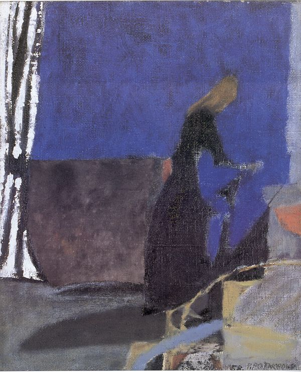 "Piotr Potworowski, 1956, ""Blue Interior (Cornwales)"""