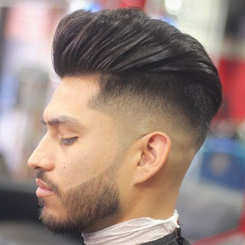 Side Shaved Fade + Pompadour