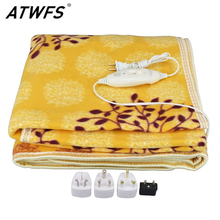 Security Plush Electric Blanket Double Bed Thermostat Electric Heating Blanket Warmer Heater Electric Carpet 150*120cm Winter
