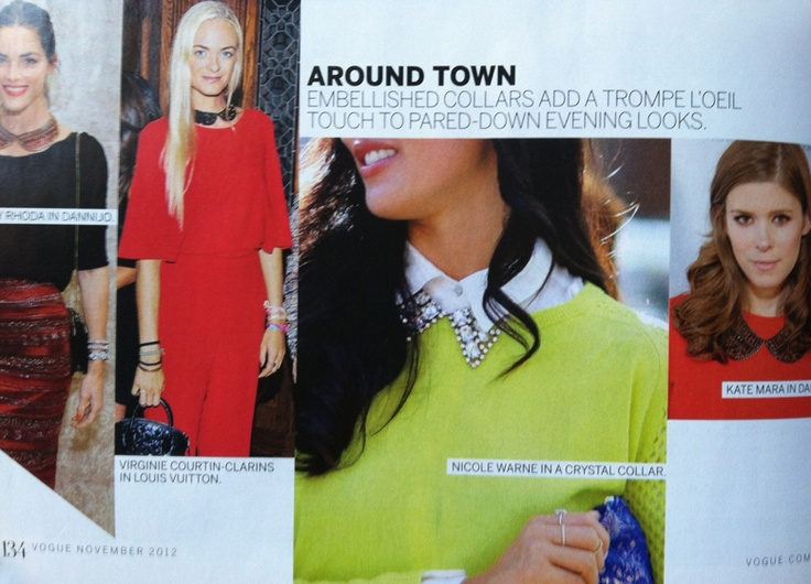 embellished collars in Vogue: Collars Pieces, Embellishments Collars