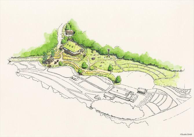 2022年オープン ジブリパーク の新情報 トトロ や 千と千尋 の世界を再現 愛知 2020 スタジオジブリ 鳥瞰図 トトロ