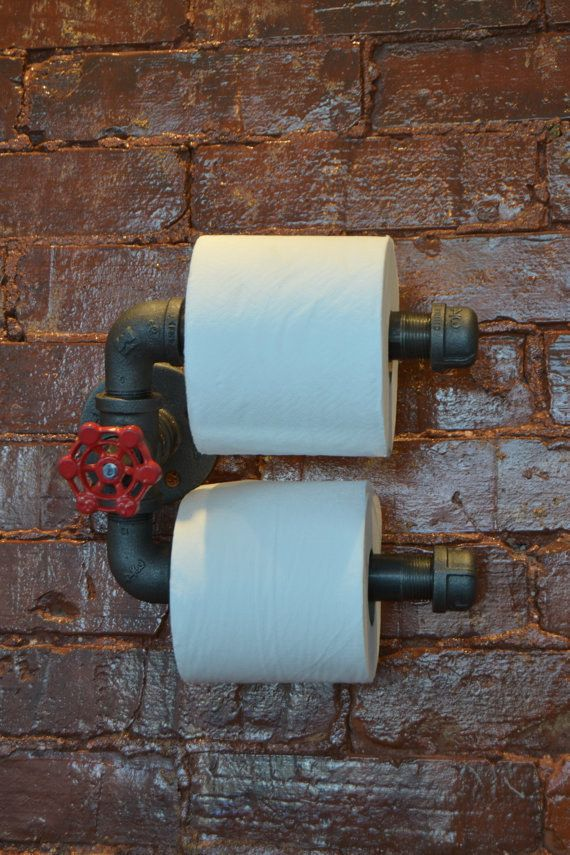 Double Roll Industrial Steel Pipe Toilet Paper Holder...LOVE THIS!!!