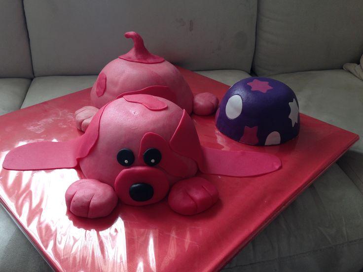 Roze hond taart