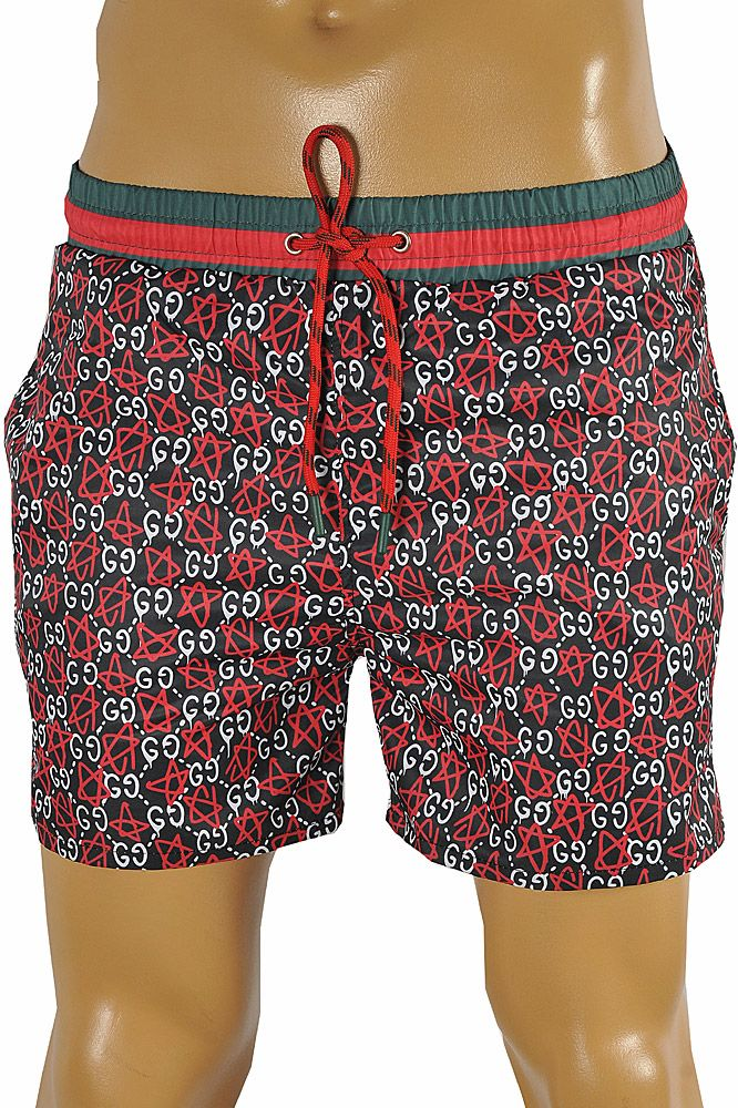 d4bb72c6f2 Mens Designer Clothes | GUCCI GG Printed Swim Shorts for Men #85 ...