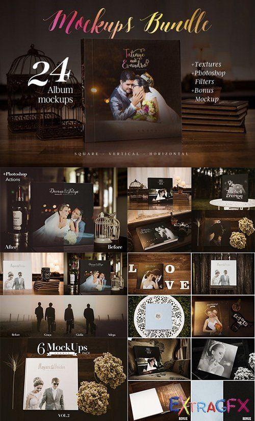 Photography album mockup bundle - 909651