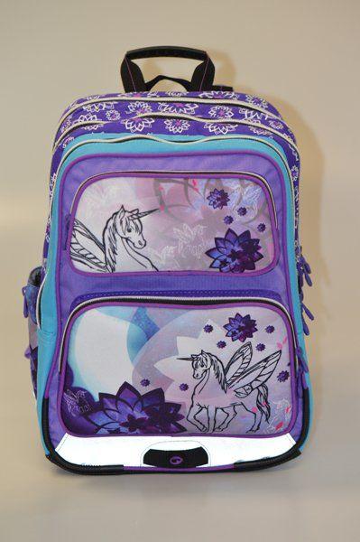 Školní batoh pro prvňáčka GOTSCHY 0115 C VIOLET jednorožec