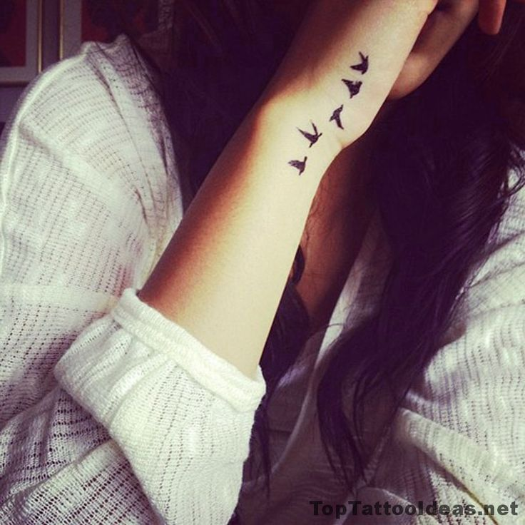 Best Tiny Tattoo Idea - Birds Leaving Her Wrist Tattoo Idea - Top Tattoo Ideas