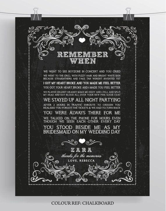 Beautiful Unique Personalised Memory Print by SugarPrintFairy