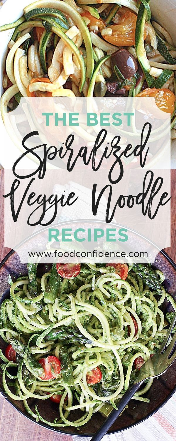 Get 8 of the Best Spiralized Veggie Noodle recipes that make fun and healthy meals!