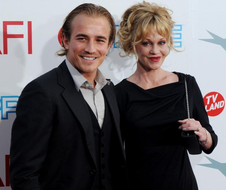 Melanie Griffith and son Jesse Johnson (2009)(Don Johnson - Miami Vice)