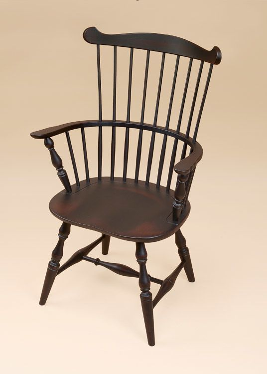 New England Fan-Back Windsor Armchair. A perfect chair for the dining room.