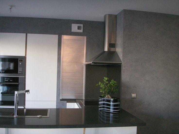 Du stuc sur les murs de cette cuisine par B.CC (MA's)