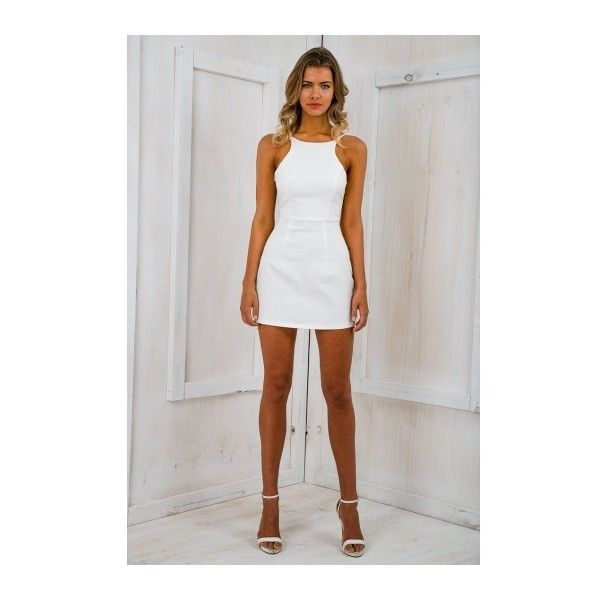 explore white fitted dress