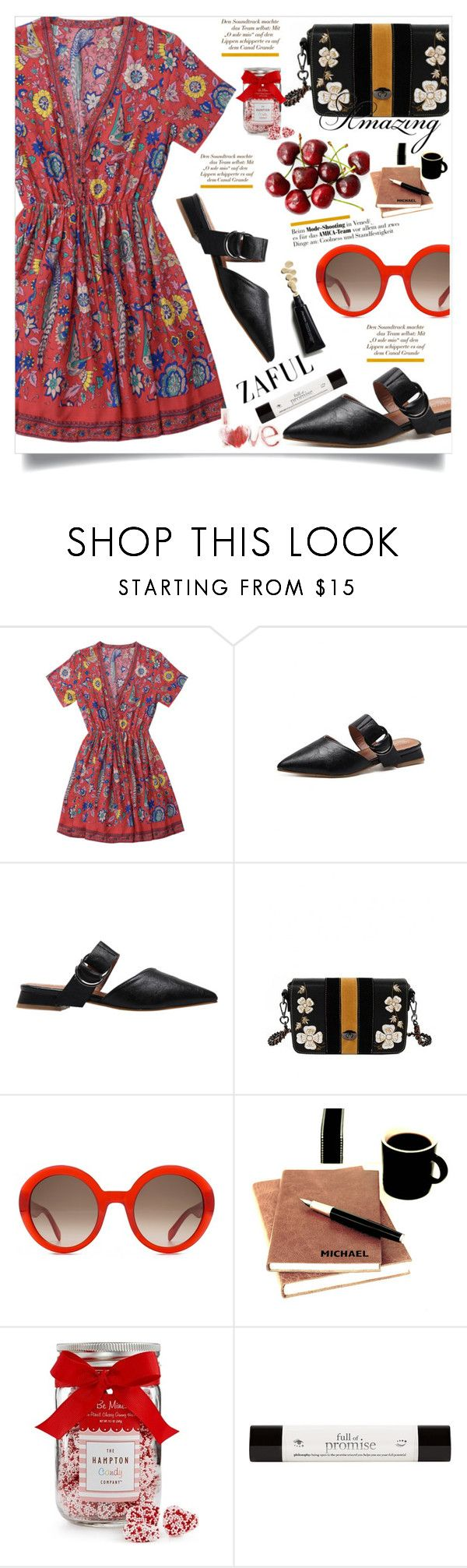 """""""Zaful 50"""" by lillili25 ❤ liked on Polyvore featuring Alexander McQueen, Champion, The Hampton Popcorn Company and philosophy"""