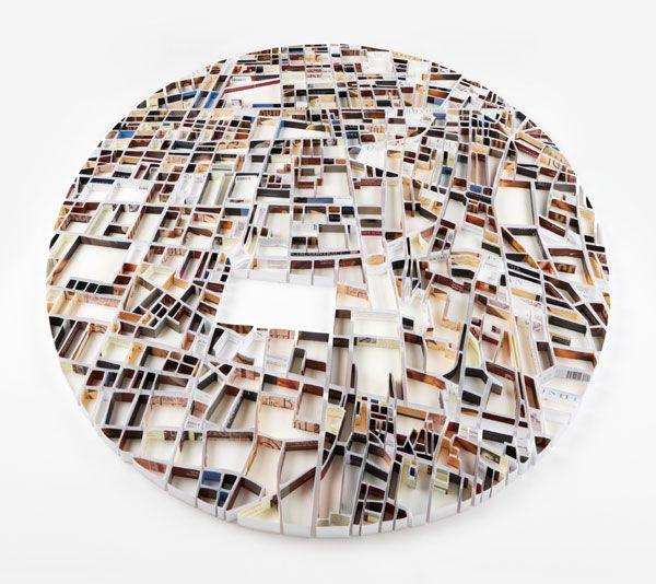Paper sculpture cities by Matthew Picton   http://matthewpicton.com/