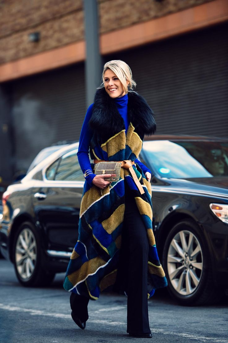seriously epic fur. Sofie in NYC. #Fashionata