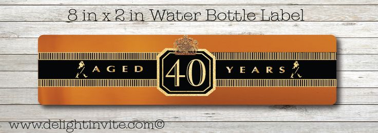 Johnnie Walker Black Label Birthday Water Bottle Labels
