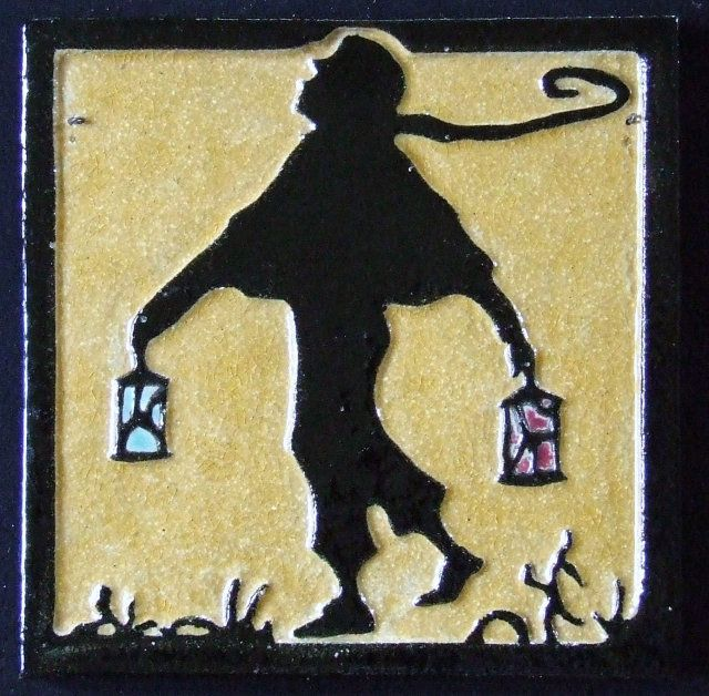 Arts and Crafts Tile by Franklin, The Lamplighter