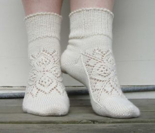 An unusual way to start knitting socks …