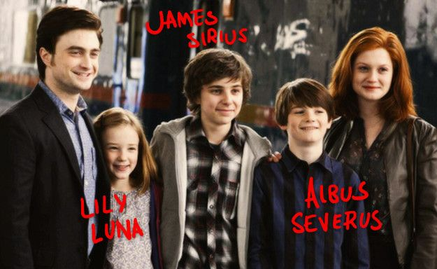 Harry and Ginny named their children after Harry's parents, Lily and James, as well as Albus Dumbledore, Sirius Black, Severus Snape, and Luna Lovegood.