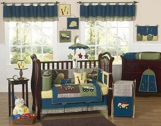 Construction Baby Boys Crib Bedding Set 9 Piece by Sweet Jojo Designs
