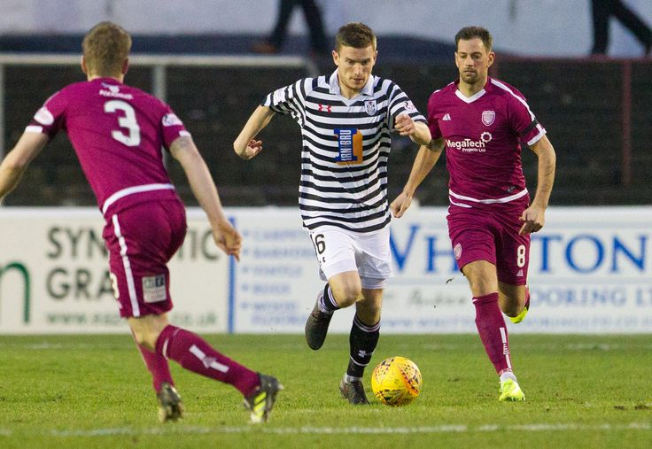 Queen's Park's Gregor Fotheringham in action during the SPFL League One game between Arbroath and Queen's Park