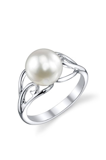 Sterling Silver 8mm White Freshwater Cultured Pearl Cutout Ring by Flawless Finds: Pearl Blowout on @HauteLook