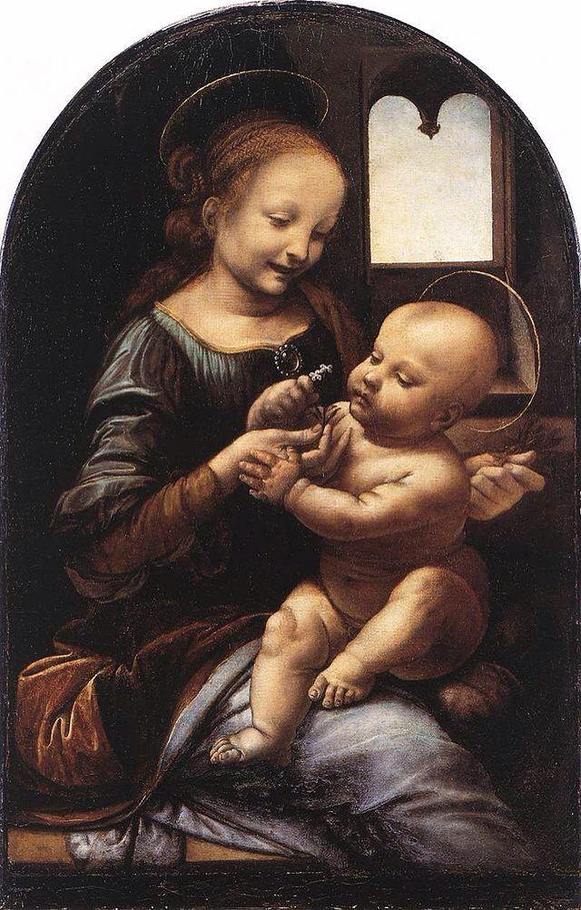 Madonna Benois Autore:Leonardo Da Vinci Data:1478-82 Dove:Museo Dell'Ermitage,San Pietroburgo