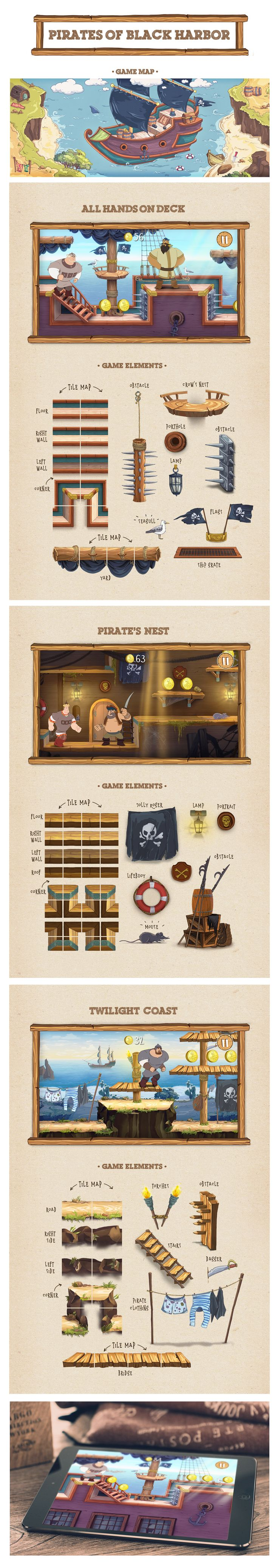 """Visual development and Illustrations for an endless runner game """"The Three Bogatyrs"""" about Three Russian Heroes! During the design process I have created 8 worlds, 2 game maps and plenty of other defferent game items and backgrounds. The main purpose of t…"""