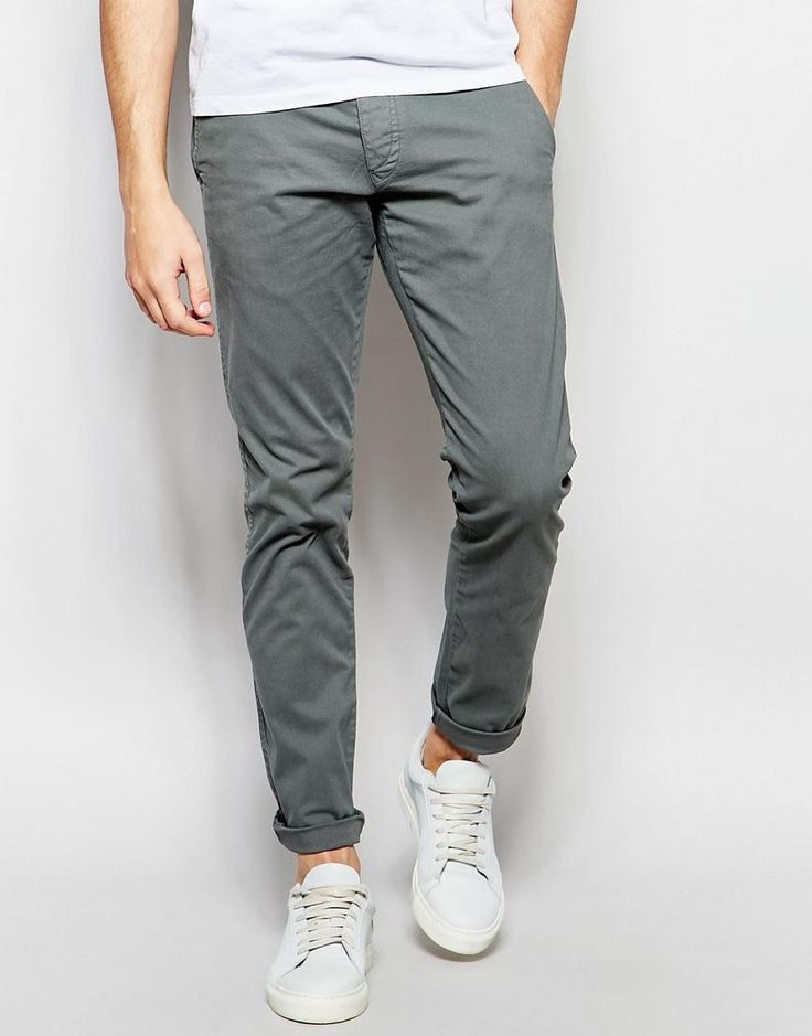 Shop Selected Homme Chinos in Skinny Fit at ASOS.
