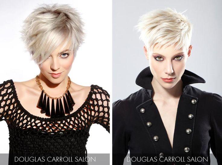 Účesy pro krátké vlasy jaro/léto 2015 – vsaďte na platina blond, stříbrné vlasy i černobílé účesy.