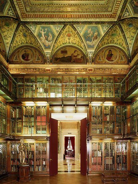 Morgan Library & Museum in New York. Biblioteca y Museo Morgan en Nueva York (Estados Unidos)