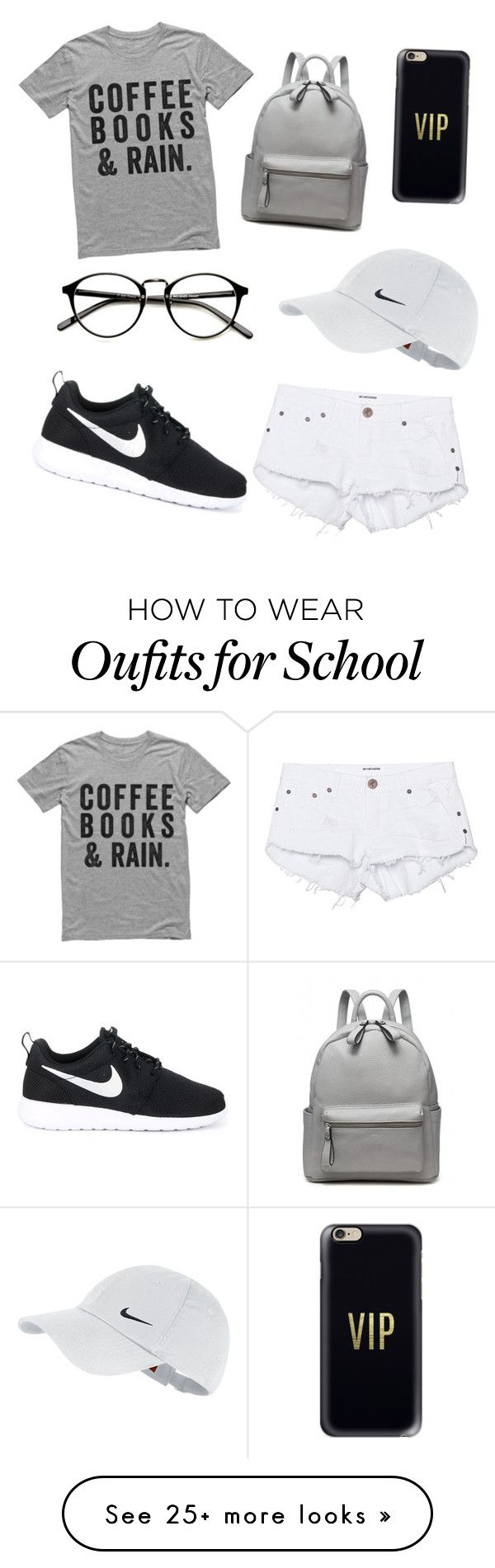 """""""Causal school day"""" by yooajunggie on Polyvore featuring One Teaspoon, NIKE and Casetify"""